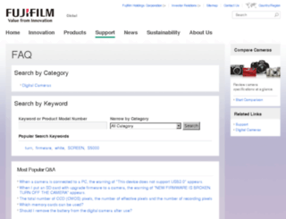 faq.fujifilm.com screenshot