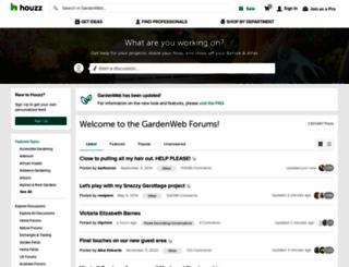 faq.gardenweb.com screenshot