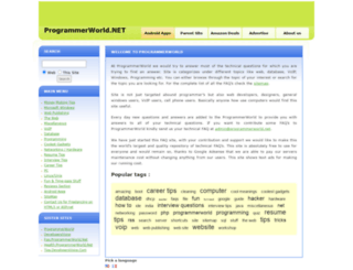 faq.programmerworld.net screenshot