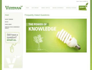 faq.viridian.com screenshot