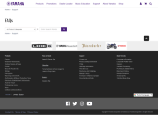 faq.yamaha.com screenshot