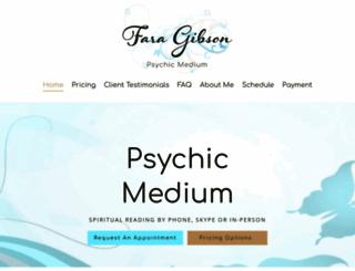 faragibsonpsychicmedium.com screenshot