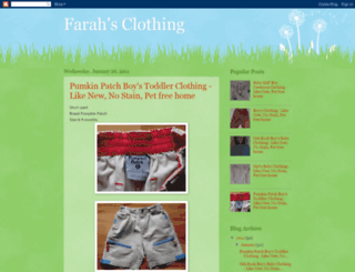farahclothing.blogspot.com screenshot