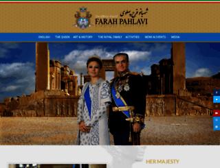farahpahlavi.org screenshot