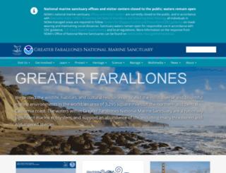 farallones.noaa.gov screenshot