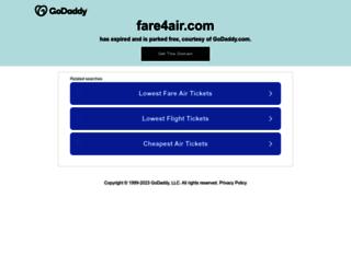 fare4air.com screenshot
