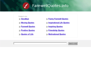 farewellquotes.info screenshot