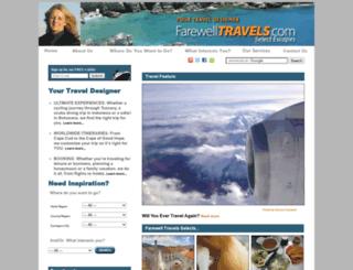 farewelltravels.com screenshot
