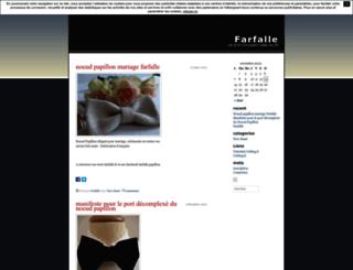 farfalle.unblog.fr screenshot