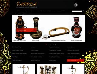 faridahookahs.com screenshot