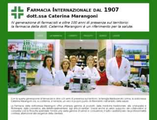 farmaciainternazionalemarangoni.it screenshot