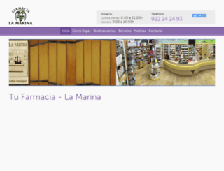 farmacialamarina.com screenshot
