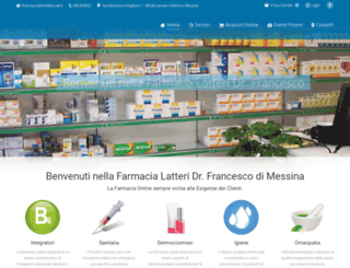 farmacialatteri-messina.it screenshot