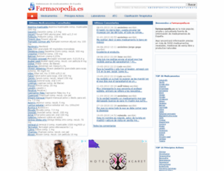 farmacopedia.es screenshot