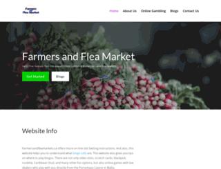 farmersandfleamarkets.ca screenshot