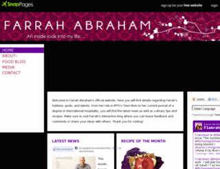 farrahabraham.snappages.com screenshot