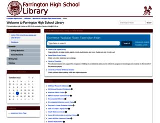 farringtonhighschool.libguides.com screenshot