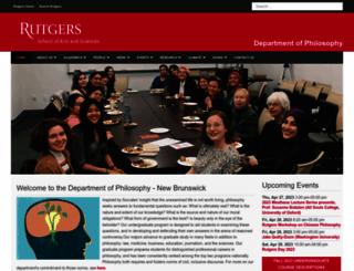 fas-philosophy.rutgers.edu screenshot