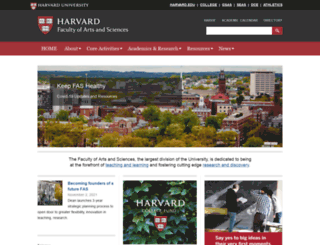 fas.harvard.edu screenshot
