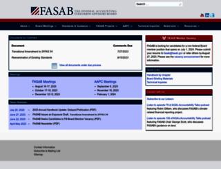 fasab.gov screenshot