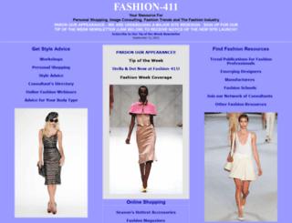 fashion-411.com screenshot