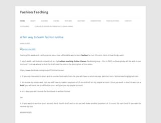 fashion-teaching.com screenshot