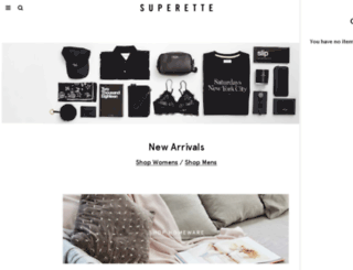 fashion.superette.co.nz screenshot