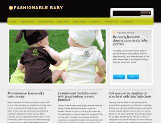 fashionablebaby.net screenshot