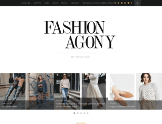 fashionagony.blogspot.com screenshot