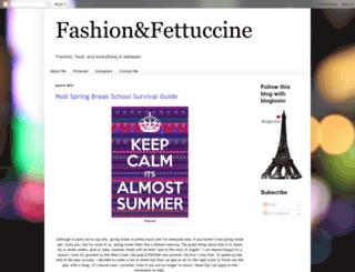 fashionandfettuccine.blogspot.com screenshot