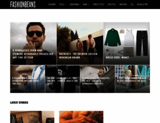 fashionbeans.com screenshot