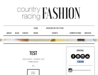 fashionblog.countryracing.com.au screenshot