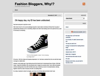 fashionbloggerswhy.wordpress.com screenshot