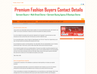 fashionbuyers.garmentbuyingagents.com screenshot