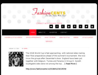 fashioncents.tv screenshot