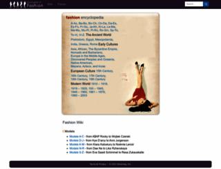 fashionencyclopedia.com screenshot