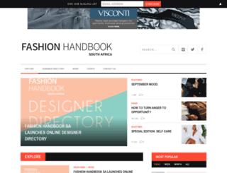 fashionhandbook.co.za screenshot