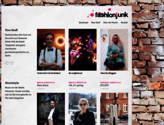 fashionjunk.de screenshot