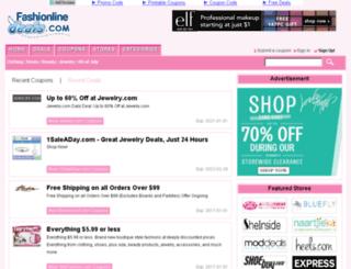 fashionlinedeals.com screenshot