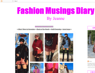 fashionmusingsdiary.blogspot.fr screenshot