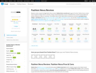 fashionnova.knoji.com screenshot