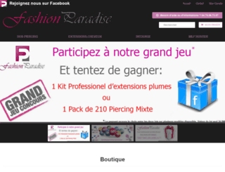 fashionparadise.fr screenshot