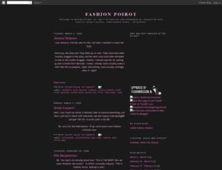 fashionpoirot.blogspot.com screenshot