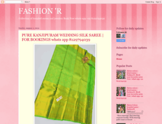 fashionr.in screenshot