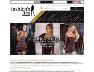fashions-first.co.uk screenshot