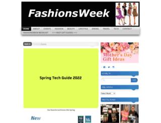 fashionsweek.com screenshot