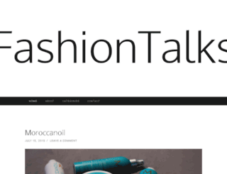fashiontalks.co.za screenshot