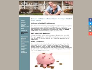 fast-bad-credit-loan.net screenshot