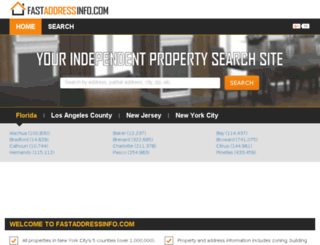 fastaddressinfo.com screenshot