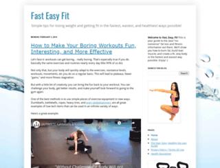 fasteasyfit.blogspot.com screenshot